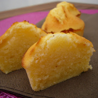 Fluffy Madeleines With Ricotta and Almonds.
