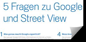 Ausriss aus Google Street View Werbung