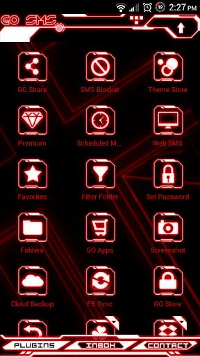 玩免費個人化APP|下載Legacy Red Glow Go SMS Theme app不用錢|硬是要APP
