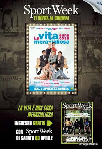 Ingresso omaggio cinema con Sportweek