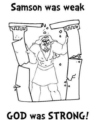 samson coloring pages for preschoolers | Coloring Picture Of Samson From The Bible Coloring Pages