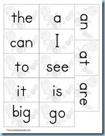 Solar System Building Sentences sight words