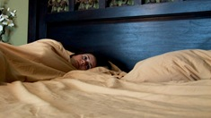 Paranormal Activity still Katie bed