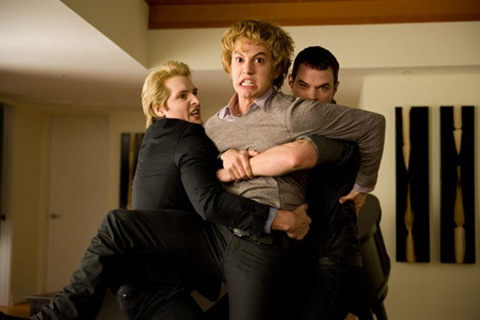 Jasper's bloodlust after Bella (Peter Facinelli, Jackson Rathbone, Kellan Lutz)