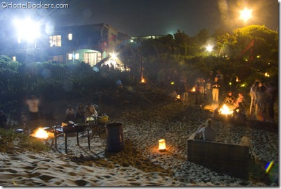 Bonfires on the beach at Island Vibe in Jeffreys Bay