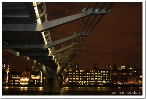 Millennium Bridge by Night