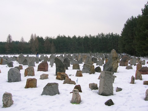 Treblinka Memorial - each stone represented a community destroyed at Treblinka