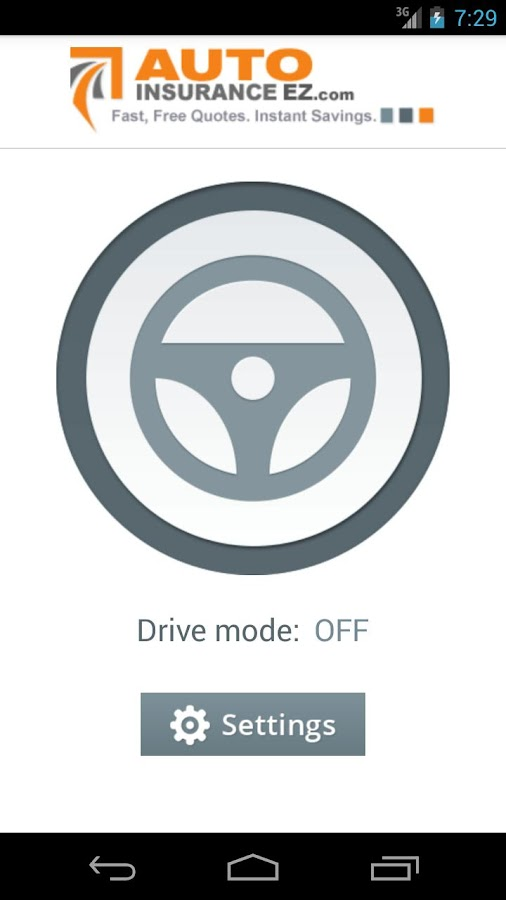 No Texting While Driving App- screenshot