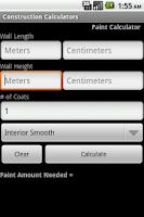 Screenshot of Paint Calc Pro Select