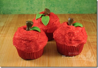 Teacher Apple Cupcakes