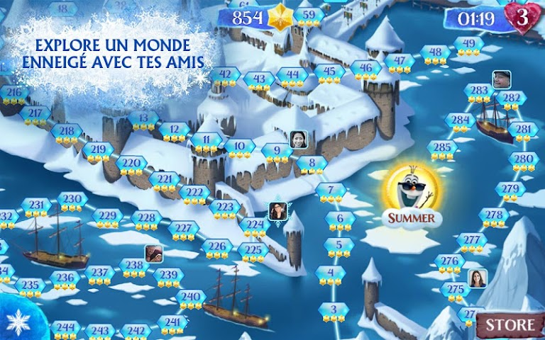 android La Reine des Neiges Free Fall Screenshot 3