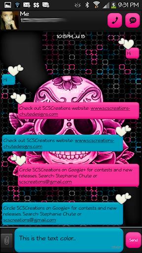 GO SMS - Sugar Skullz