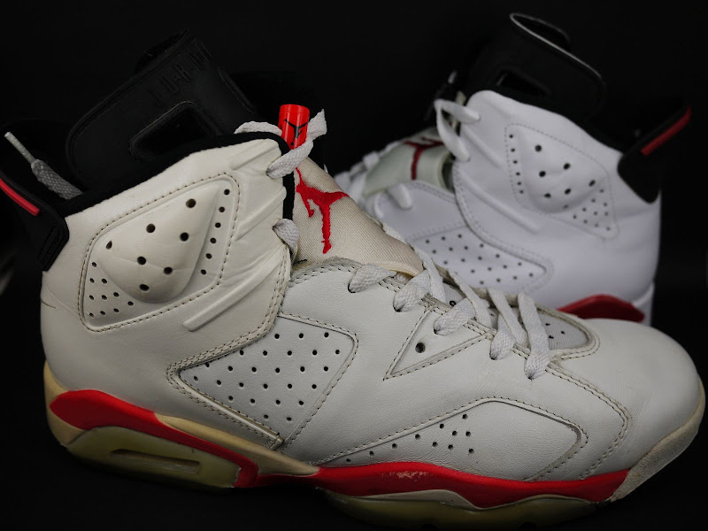 check out 26090 f58a5 Original Air Jordan VI White/ InfraRed Black vs Air Jordan 6 ...