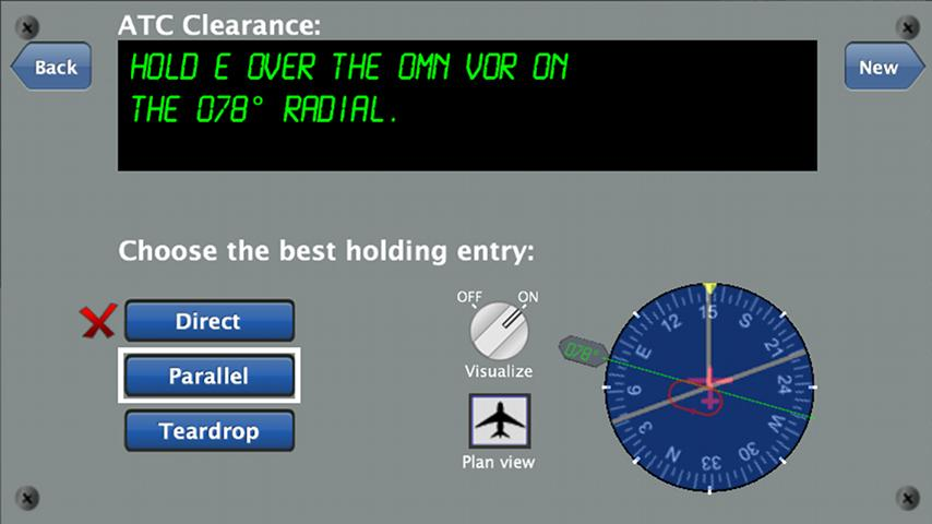 Holding Pattern Trainer - screenshot