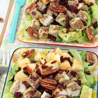 Pecan Crusted Chicken Salad with Apples & Bacon.
