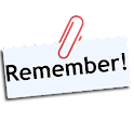 Memo to remember icon
