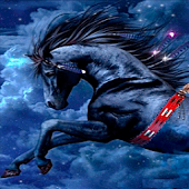 Black Horse Live Wallpaper