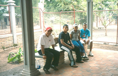 Four youths at the Cosigüina Youth Centre, 2005
