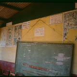 Inside one of the seven classrooms in 1988 when the link was first established.