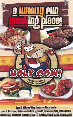 Holy Cow! Menu20