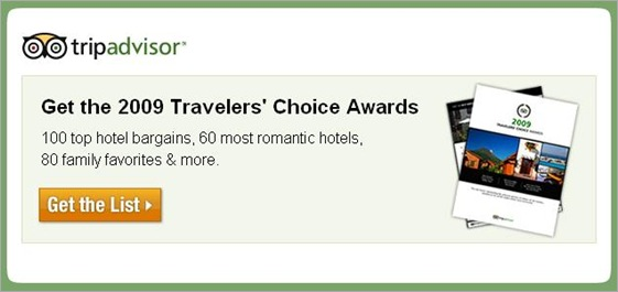 Trip Advisor 2009 Traveler's Choice Awards
