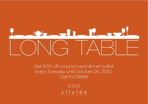 Circles Long Table Sale