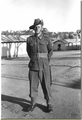 Dick at Ingleburn Army Camp