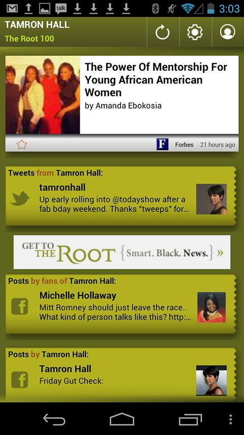 Tamron Hall: The Root 100 - screenshot