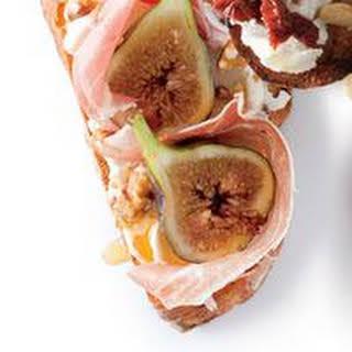Honeyed Fig and Prosciutto Bruschetta.