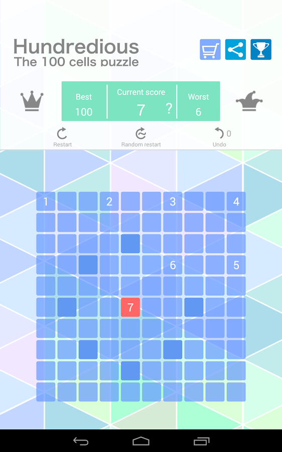 Hundredious (100 Cells Puzzle)- screenshot