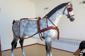 Leather horse harness style 4 carriage driving