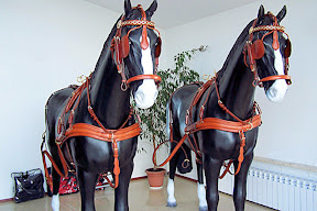 Leather horse harness style 10 carriage driving