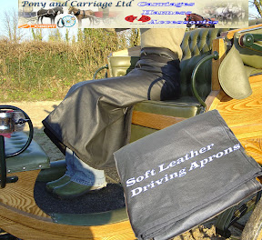 Cotton Lined Black Leather Driving Apron J18