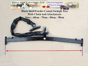 Black Powder Coated Swingle Tree With Additional Attachments