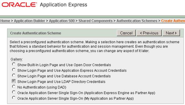ORACLENERD: APEX: LDAP Authentication