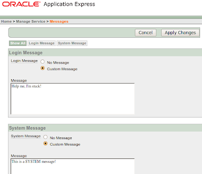 ORACLENERD: APEX: Manage Service > Manage Environment Settings
