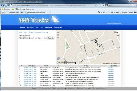 SMS Tracker (TM)- screenshot