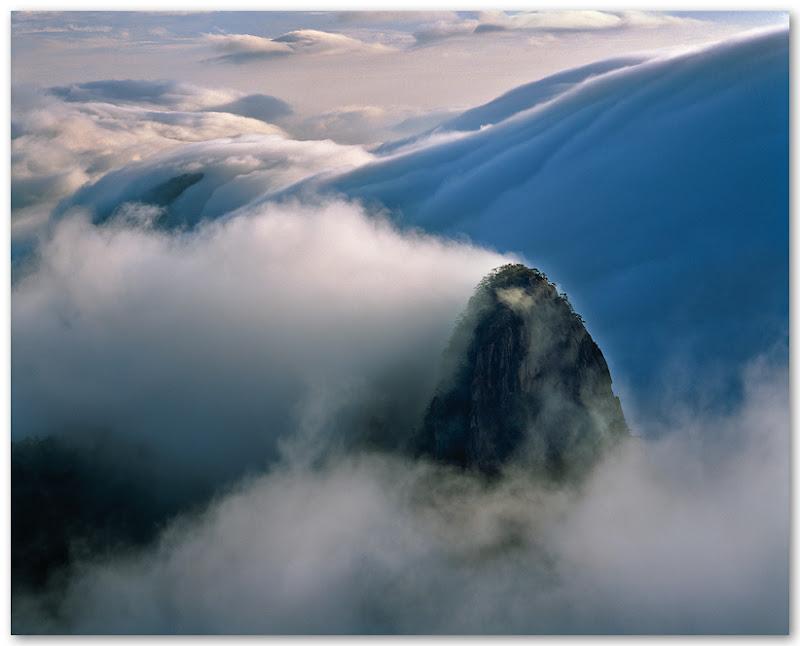 In the ocean of clouds