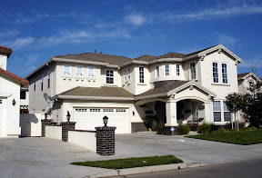 A McMansion style home