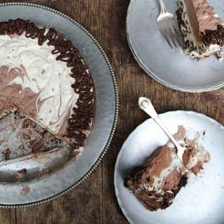 The Easiest Chocolate Meringue Ice Cream Cake.