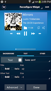 Poweramp Standard Widget Pack - screenshot thumbnail