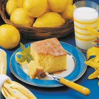 Glazed Lemon Cake.