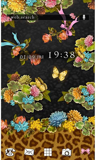 ★FREE THEMES★Flowers Leopard