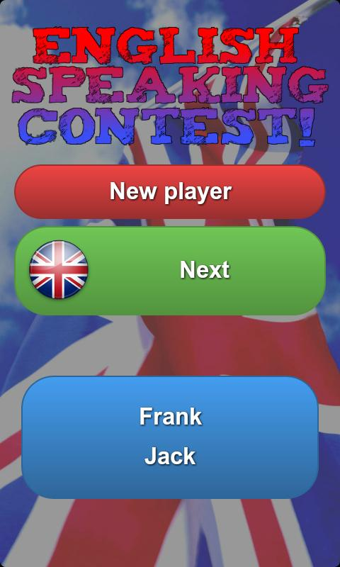English speaking contest! - screenshot