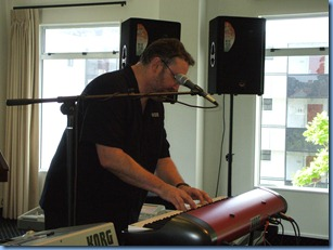 Steve McNally, the Worldwide demonstrator for Korg, playing the incredible Korg SV-1 designed with Italian flare and genius.