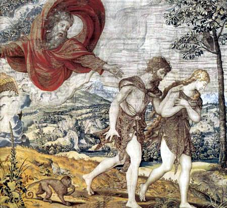 Bībele: bauslības un Evaņģēlija gobelēns