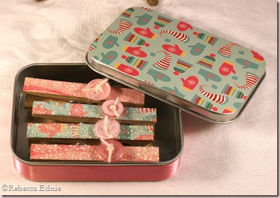 winter gift set clothespin tin