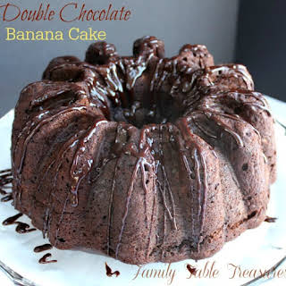 {Double} Chocolate Banana Cake {with Coconut Milk Ganache}.