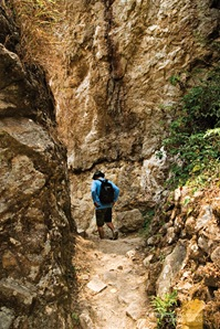 The Path Back from Sagada's Bomod-Ok Falls