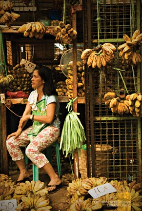 Woman Selling Bananas at Pasig Market